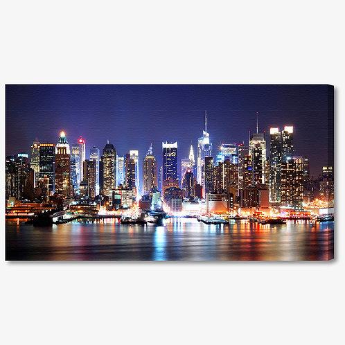 M768 - Quadro moderno NYC skyline di notte