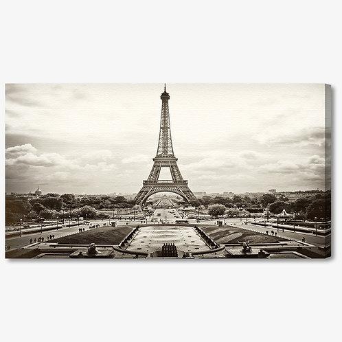 M760 - Quadro moderno Torre Eiffel bianco e nero