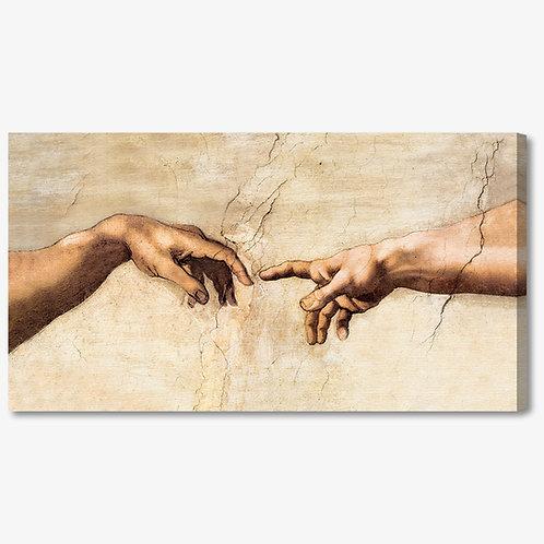 M074 - Quadro classico mani di La creazione di Michelangelo