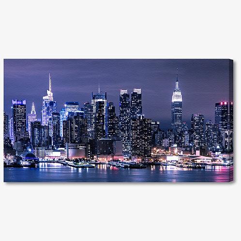 M1093 - Quadro moderno skyline NYC di notte