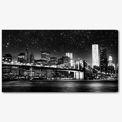 M1015 - Quadro moderno NYC ponte di brooklyn bianco e nero