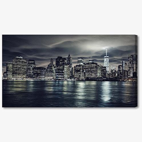 M1294 - Quadro moderno NYC skyline di notte