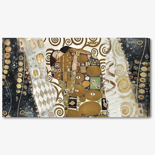 M372 - Quadro classico Klimt collage abbraccio