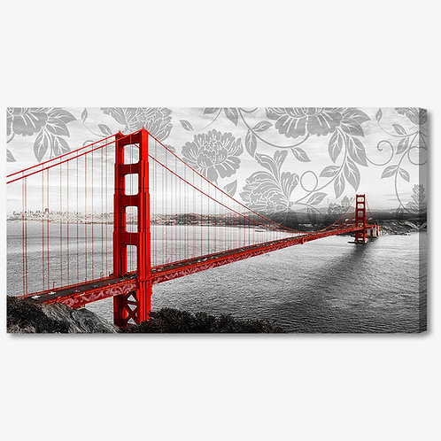 M944 - Quadro moderno Golden Gate