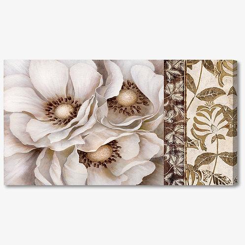 M225 - Quadro moderno elegante fiori bianchi