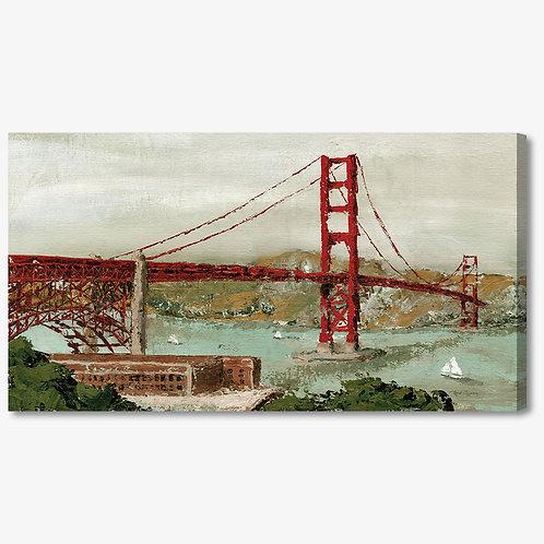 RBA257 - Quadro moderno astratto NYC Golden Gate bridge