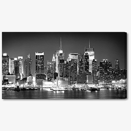M835 - Quadro moderno NYC skyline bianco e nero