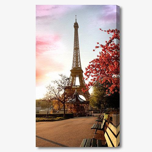 M539 - Quadro moderno Torre Eiffel di giorno verticale