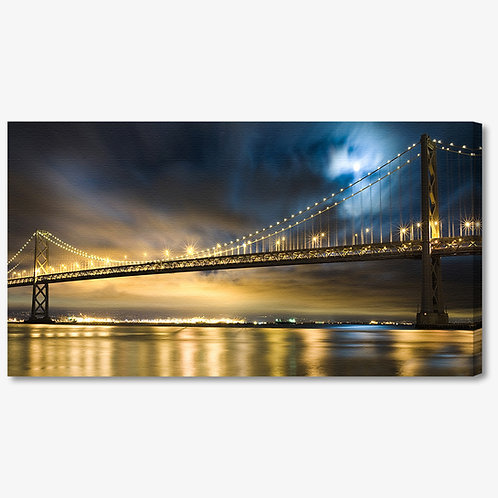 M949 - Quadro moderno Golden Gate Bridge di notte