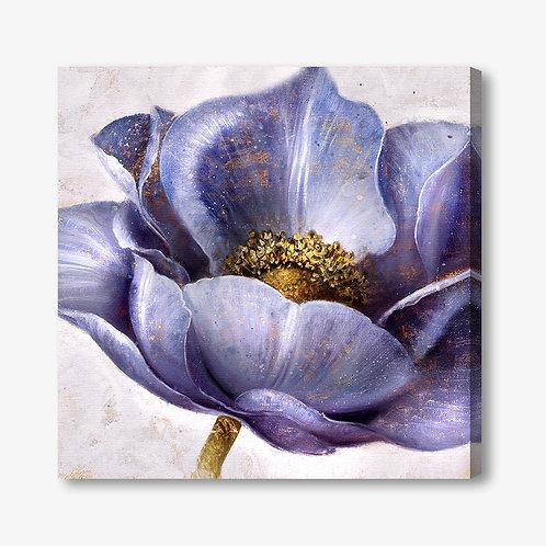 M218 - Quadro moderno fiore blu