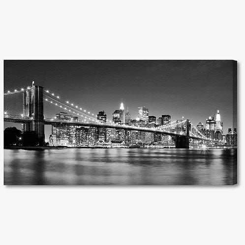 M835 - Quadro moderno NYC ponte di brooklyn bianco e nero