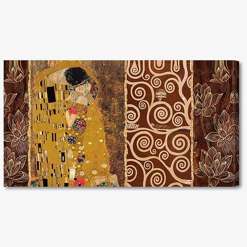M251 - Quadro classico Klimt collage bacio