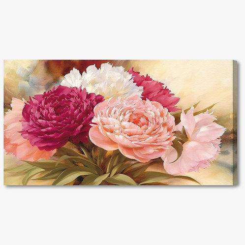 M1072 - Quadro moderno floreale mazzo di fiori colorato