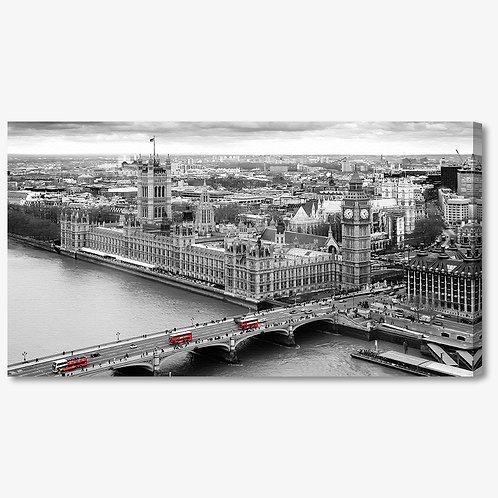 M954 - Quadro moderno Londra bianco e nero