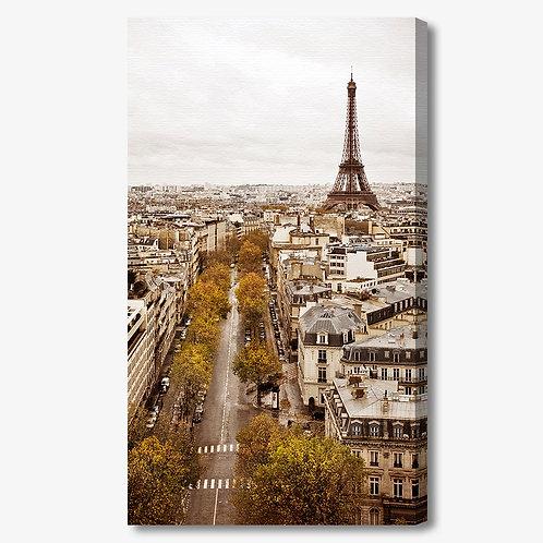 M956 - Quadro moderno Parigi Torre Eiffel verticale