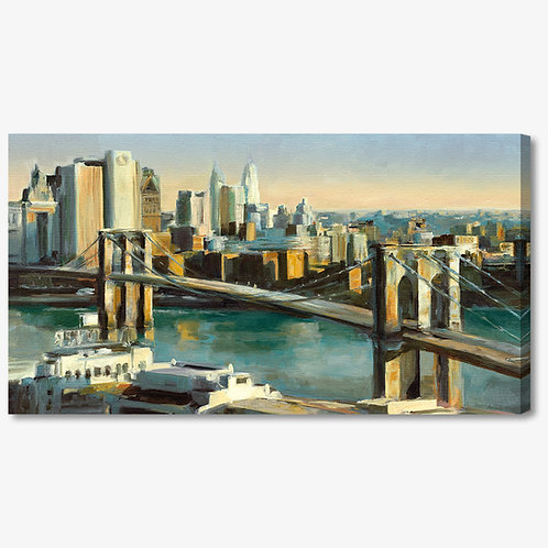 WA104 - Quadro moderno astratto NYC ponte di brooklyn