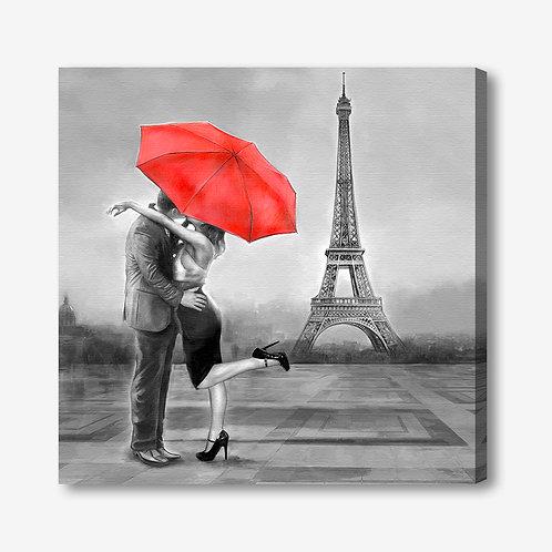 ADL102 - Quadro moderno innamorati a Parigi