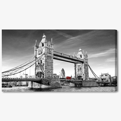 M1018 - Quadro moderno Londra Tower Bridge bianco e nero