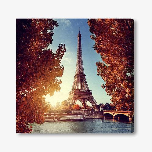 M1299 - Quadro moderno Parigi Torre Eiffel quadrata