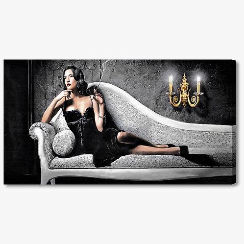 M1241 - Quadro moderno donna sul divano