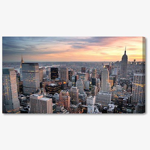 M1096 - Quadro moderno NYC grattacieli dall'alto