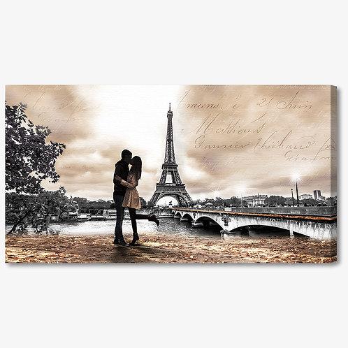 M1331 - Quadro moderno Parigi Torre Eiffel bacio