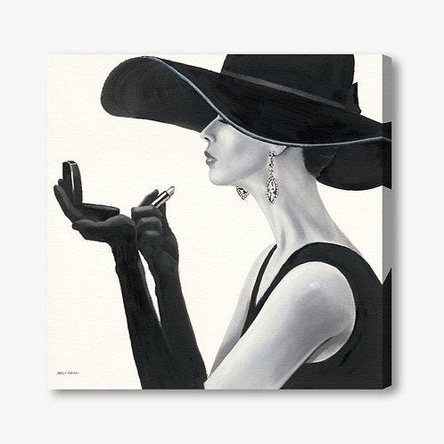 WA196 - Quadro moderno donna con rossetto
