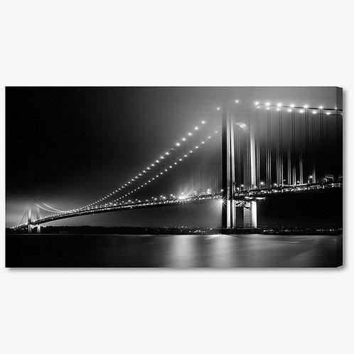 M1016 - Quadro moderno ponte NYC bianco e nero