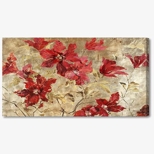 M391 - Quadro moderno floreale fiori rossi