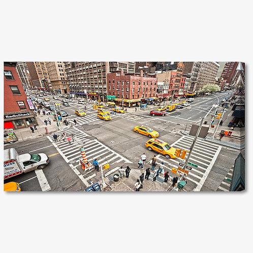 M1407 - Quadro moderno NYC incrocio taxi gialli
