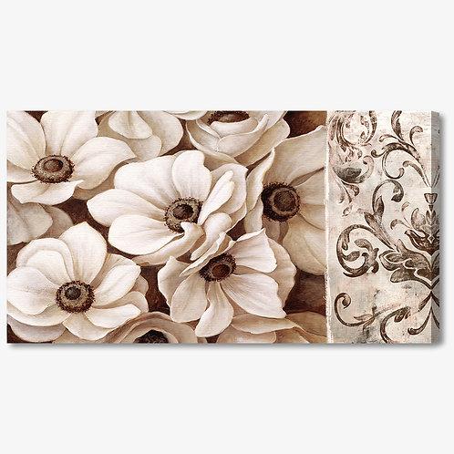 C003 - Quadro moderno floreale fiori bianchi