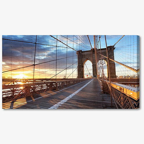 M1322 - Quadro moderno NYC ponte di brooklyn vista interna