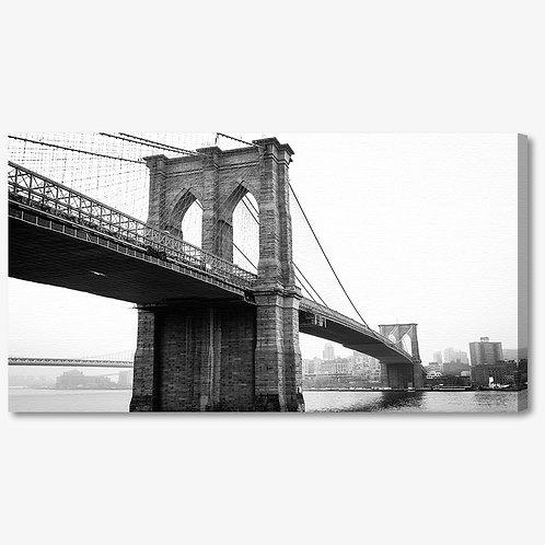 M1379 - Quadro moderno NYC ponte di brooklyn bianco e nero