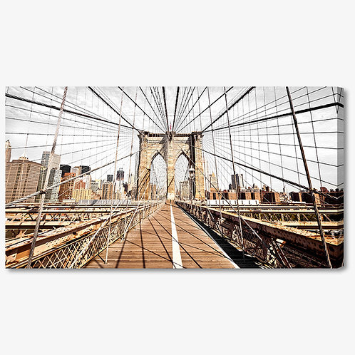 M772 - Quadro moderno NYC ponte di brooklyn vista interna