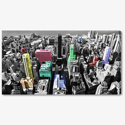 M046 - Quadro moderno grattacieli colorati