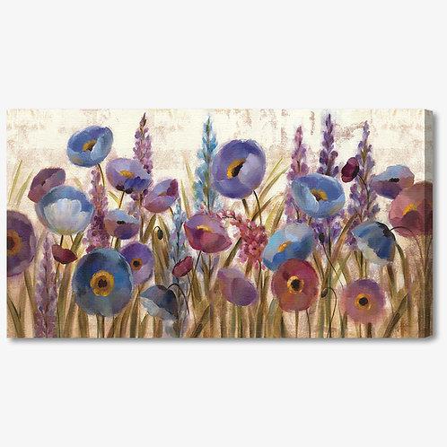 WA036 - Quadro moderno campo di fiori blu