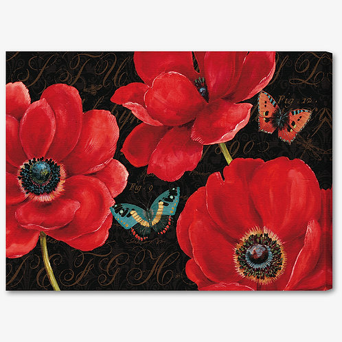 WA067 - Quadro moderno fiori rossi