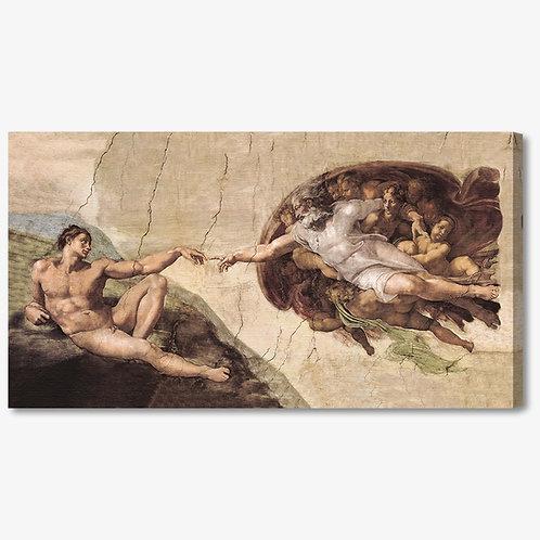 M073 - Quadro classico La creazione di Adamo di Michelangelo