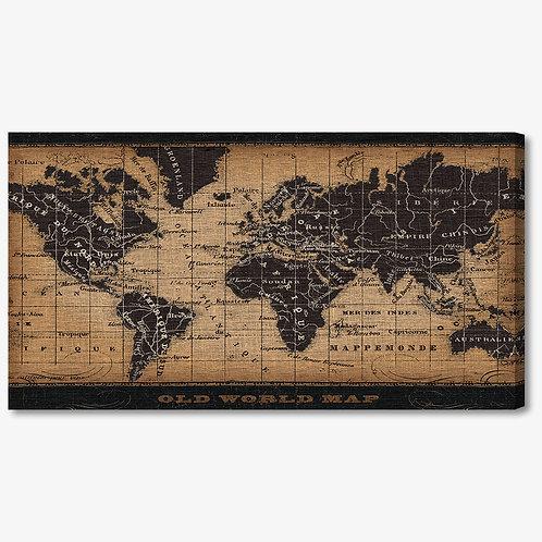 WA190 - Quadro moderno mappa del mondo