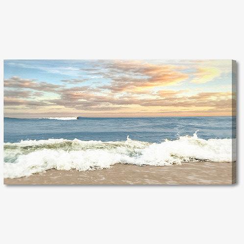 ADL048 - Quadro moderno mare al tramonto
