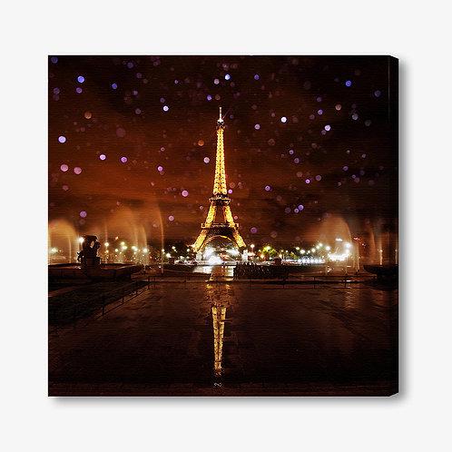 M1259 - Quadro moderno Torre Eiffel illuminata