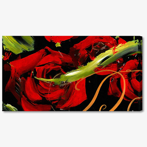 M601 - Quadro moderno astratto rose rosse