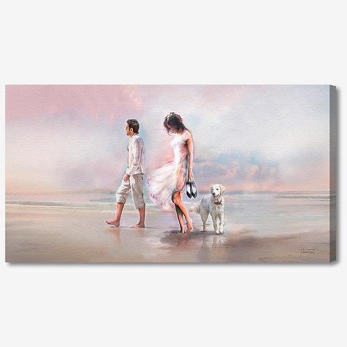ADL097 - Quadro moderno innamorati in passeggiata al mare
