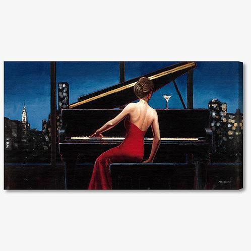 WA112 - Quadro moderno donna al pianoforte