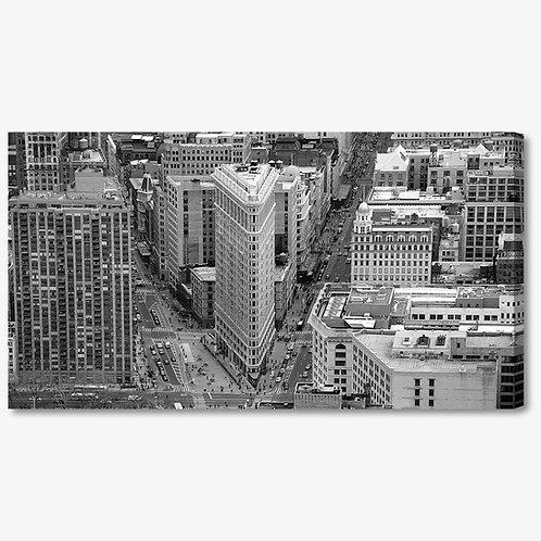 M845 - Quadro moderno NYC Flatiron Building bianco e nero