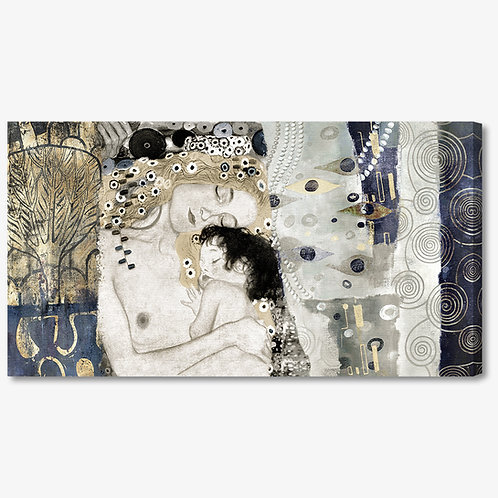 M371 - Quadro classico Klimt collage maternità