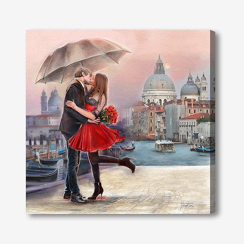 ADL110 - Quadro moderno innamorati a Venezia