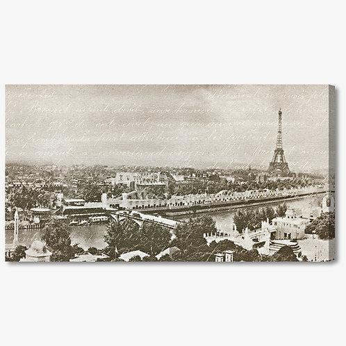 WA1035 - Quadro moderno Parigi Torre Eiffel seppia