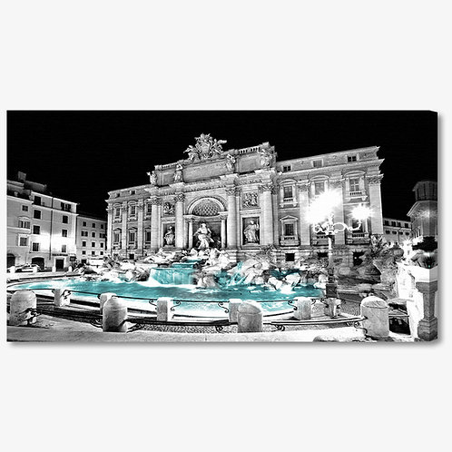 TA025 - Quadro moderno Roma Fontana di Trevi