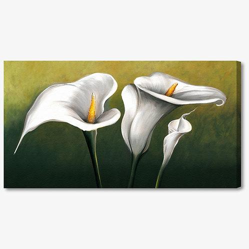 M599 - Quadro moderno floreale calla bianca